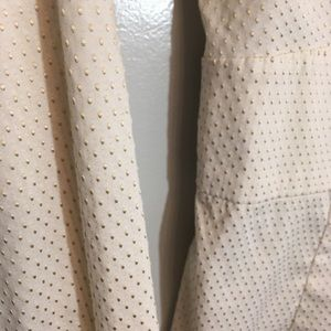 Cream with light gold dots. Express shirt sz XS